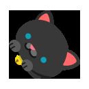 くっつき黒猫