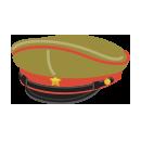 将校帽子 カーキ