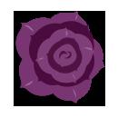 ヘアコサージュバラ紫