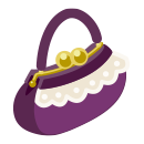 手持ちバッグ レース紫