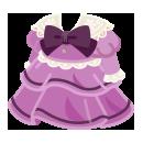 レトロなドレス 薄紫