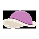 レトロな帽子 薄紫