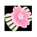 髪飾り 桜縞白