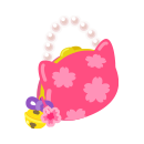 手持ち桜猫バッグ