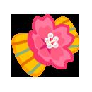 髪飾り 桜縞黄