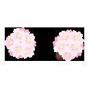 桜の頭飾りダブル