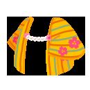 羽織 桜縞黄