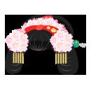 チンドン屋かつら桜