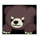 頭のせ金太郎クマ