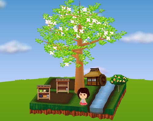 野菜販売所(各種)、ビワの木、水車小屋 設置例