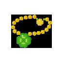 四つ葉のクローバーネックレス