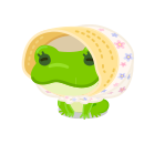 頭のせカエル 日除け付